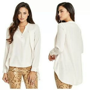Marciano Claud Button Front Blouse